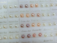 50Pairs/lot Pearl Earring Silver Nail For DIY Craft Fashion Jewelry Gift Mix color Free Shipping