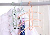New Fashion design creativo a tre strati antiscivolo Fishbone stendibiancheria umido e secco rack rack multi-funzionale e casa tie rack