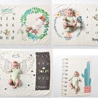 Ins Kids Wing Print Decken Fotografie Hintergrund Requisiten Infant Swaddling Flower Digital Neugeborene Baby Wraps 70 * 102 cm C4432