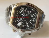 Мода Высокое Качество Наручные часы W62020x6 47 мм 18 к Золотой Сталь Черный Циферблат VK Кварцевый Хронограф Рабочие Мужские Часы Часы Часы
