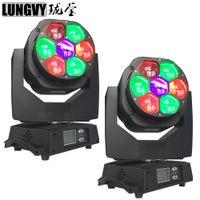 2 pz / lotto Mini Zoom 7x15 W RGBW Led Bee Eye Moving Head Luce Effetto di Fase Per Discoteca Nightclub DJ Bar Light