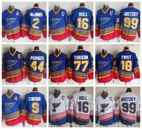 Vintage St. Louis Blues 44 Chris Pronger 9 Shayne Corson 18 Tony Twist 77 Pierre Turgon Al Macinnis Brett Hull Wayne Gretzky Hockey Trikots