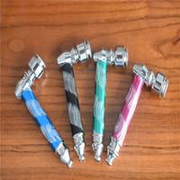 10 adet / grup çok Yüksek Kalite Metal Boru Jamaika Rasta Tütün / Sigara Borular 4 renkler Değirmen Duman Dedektörleri Metal tütün Boru