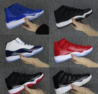 11s XI Hommes Jumpman 11 Gym Red Navy GAGNER COMME 82 UNC Space Jam 45 Chaussures de basket-ball 11 Athlétique Sport