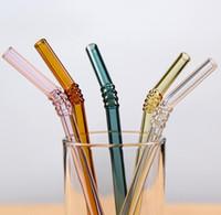 Питьевые соломинки стекло многоразовые соломинки металл питьевой соломы бар напитки партии винные аксессуары 8 мм и щетка для очистки