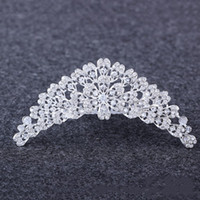 Vento europeu e americano luxuoso é pura manual noiva diamante cabelo aro coroa coroa jóias decoração de cristal