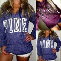 5 Colors Pink Letter Hoodies Love Pink Jacket Women Pink Swe...