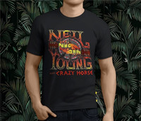 New Popular Neil Young With Crazy Horse Men' s Black T- S...