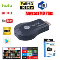 AnyCast M9 Artı WiFi Ekran Dongle Alıcı Desteği Chromecast Netflix Youtube 1080 P iOS Mac Android için HDMI TV DLNA Airplay Miracast