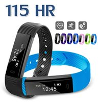 ID115 HR Smart Bracelet Step Counter Activity Monitor Fitnes...