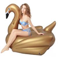 Новый надувной фламинго надувные поплавки бассейн игрушки для детей и взрослых Лебедь надувные поплавки плавание кольцо плавательный плот 1.9 м