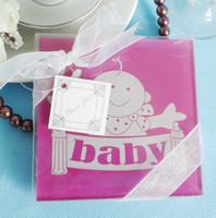 Feis hotsale رومانسية جميلة الطفل 2 قطع الزجاج كوستر tablemat استحمام الطفل لصالح حزب هدايا الزفاف companyInauguration الذكرى
