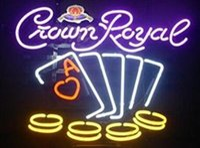 24*20 inches Crown Royal Poker DIY Glass Neon Sign Flex Rope Neon Light Indoor Outdoor Decoration RGB Voltage 110V-240V