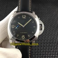 1950 Limited Edition Black Dial 01359 Seagull Automatic Movement Herrenuhr 359 Silbergehäuse Lederarmband New Gents Watches