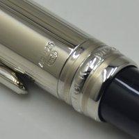럭셔리 MSK-163 볼펜 검은 수지와 금속 AG925 편지지 오피스 학교 용품 고품질 필기 공 펜 시리즈 번호 클립