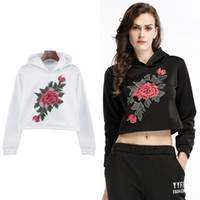 BOFUTE New Women' s Clothing Flowers Embroidery Sweatshi...
