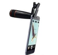 Lente de telefone Universal Clipe 12X Teleobjectiva Telemóvel Zoom Óptico Do Telefone Móvel Da Câmera Para O iPhone Sumgung HTC xiaomi