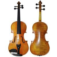 자연 줄무늬 메이플 매트 바이올린 4/4 Hand-craft Professional 바이올리니언 흑단 지판 수동 페인트 바이올린 프로 플루셔널 바이올린