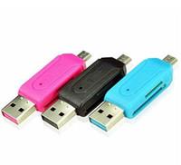 SR 2 1 USB OTG 카드 판독기 범용 마이크로 USB OTG TF / SD 카드 판독기 전화 확장 헤더 마이크로 USB OTG 어댑터