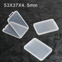 caja delgada caja de la tarjeta SD caja de plástico de almacenamiento de caja blanca para la tarjeta micro del TF SD XD CF transparentes MS estándares de sujeción