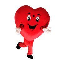 Il costume rosso della mascotte del cuore di amore del costume della mascotte di amore del cuore di alta qualità libera il trasporto può aggiungere il logo