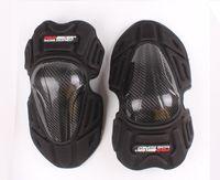 Summer Motorcycle Carbon Kneepad Motorcross Racing Almohadilla de protección para la rodilla Moto Off Road Kneeling Black Cap Guard para hombres y mujeres