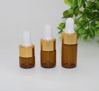 3 ml Mini Boş Damlalık Şişe Taşınabilir Aromaterapi Esstenial Yağ Şişesi ile Cam Göz Damlamalık amber ve temizle renkler 220 adet