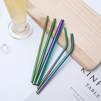 More Size 304 Colorful Stainless Steel Straw Reusable Drinki...
