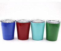 9OZ stainless steel kids mugs double wall 8 colors stemless ...
