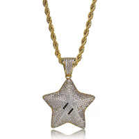 Hip Hop Brass Gold Silver Color Iced Out Micro Pave CZ Carto...