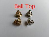 Ball Top Blocking Lapel Badge Pin Keepers Backs Clasp Clutches Savers Держатель Ювелирные Изделия Найти Броши FIT Fit Военная Hotel Hat Club Police
