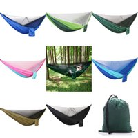 2018 Portable Hammocks Double Person nylon Camping Survival ...