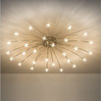 Modern Round Starry Sky LED Crystal Glass Ceiling Lights 15 ...