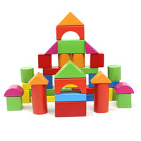 40PCS bebek hediye toptan eğitici ebeveyn-çocuk oyuncak bebek oyuncakları ahşap bloklar 1-6 yaşında kız ya da erkek oyuncakları blokları tuğlalar