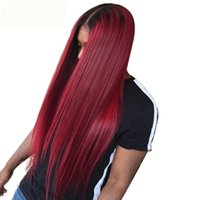 Ombre Lace Wig Silky Straight Lace Front Human Hair Wigs 1B9...