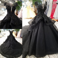 New Arrival Luxury Ball Gown Black Wedding Dresses 2020 Goth...