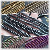 8 mm de hematita natural color plateado Rondell granos flojos 15 pulgadas, granos para la fabricación de joyas de bricolaje