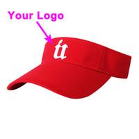 Visiera curva visiera curvata logo stampato senza corona 100% cotone taglia adulto regolabile da golf da golf cappello da baseball personalizzato cap spedizione gratuita