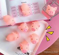 5 cm desenho animado grito rosa porco rosa brinquedo macio animal apertando pinça cura ventilação mochi stress releiver decoração decompressão crianças presente