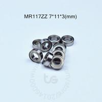 MR117ZZ 7 * 11 * 3 (mm)의 밀봉 소형 소형 베어링 MR117 MR117ZZ 크롬강 베어링 무료 배송 베어링 ABEC -5- 메탈 10pieces