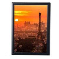 21 * 29.7 CM Noir Simulation Table En Bois Mur Photo Cadre Hardboard Dos avec Verre Pour A4 Photos Picture Certificats Album Décor