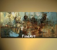 100% handpainted huge modern abstract color painting acrylic...