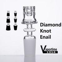 다이아몬드 흡연 액세서리 매듭 Enail Quartz Electric Nails 20mm 코일 우아한 디자인을위한 19.5mm 그릇 20mm 코일 우아한 디자인 돔이없는 DAB 조작 523