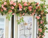 Flor de alta videira folhas de videira simulação decoração de flores em rattan rattan compensar subiu W003