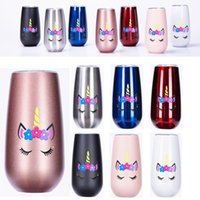stainless steel tumbler unicorn 6oz Flute Champagne cup kids...