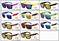 Los hombres del verano que doblan la conducción de la bicicleta Las mujeres del cristal UV doblan las gafas de sol hombre motocicleta Deportes Riding Gafas de sol gafas Dazzle colou envío gratis