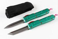 Top Quality A6 Auto Tactical Knife D2 Stone Wash Blade Green T6061 Maniglia in alluminio Outdoor Coltelli da tasca EDC Coltelli da tasca