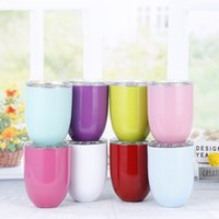 Stemless Wine Cup Egg cups 10oz Wine Glasses 304 Stainless S...