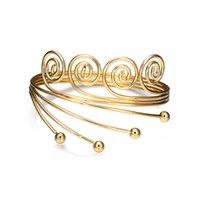 الرجعية الذهبية اللون ARM سوار المجوهرات النمط الهندي شعبية