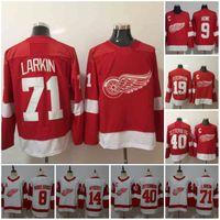59 Tyler Bertuzzi Detroit Red Wings 9 Gordie Howe 13 Pavel Datsyuk Jerseys 19 Steve Yzerman 40 Henrik Zetterberg 71 Dylan Larkin Vermelho Branco